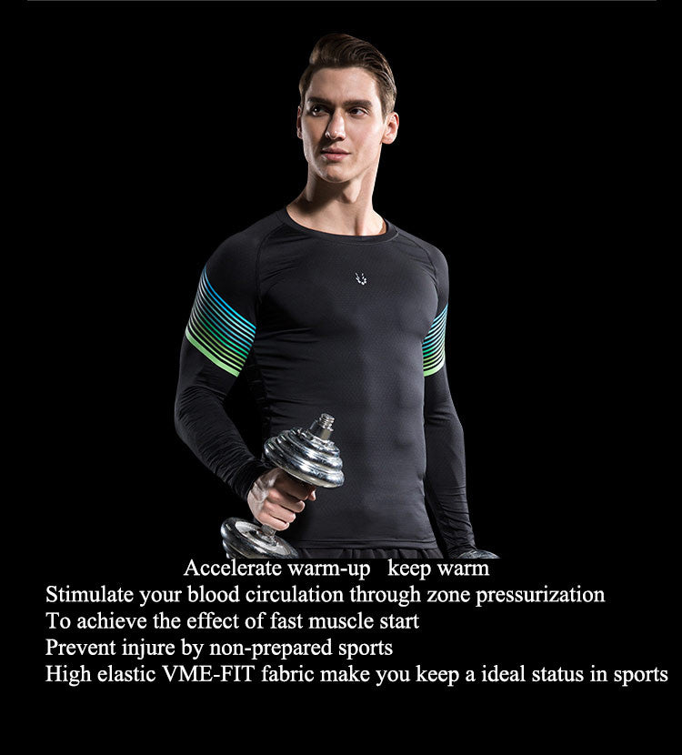 Accelerate warm-up,keep warm,Stimulate your blood circulation through zone pressurization.To achieve the effect of fast muscle start.Prevent injure by non-prepared sports.High elastic VME-FIT fabric make you keep a ideal status in sports