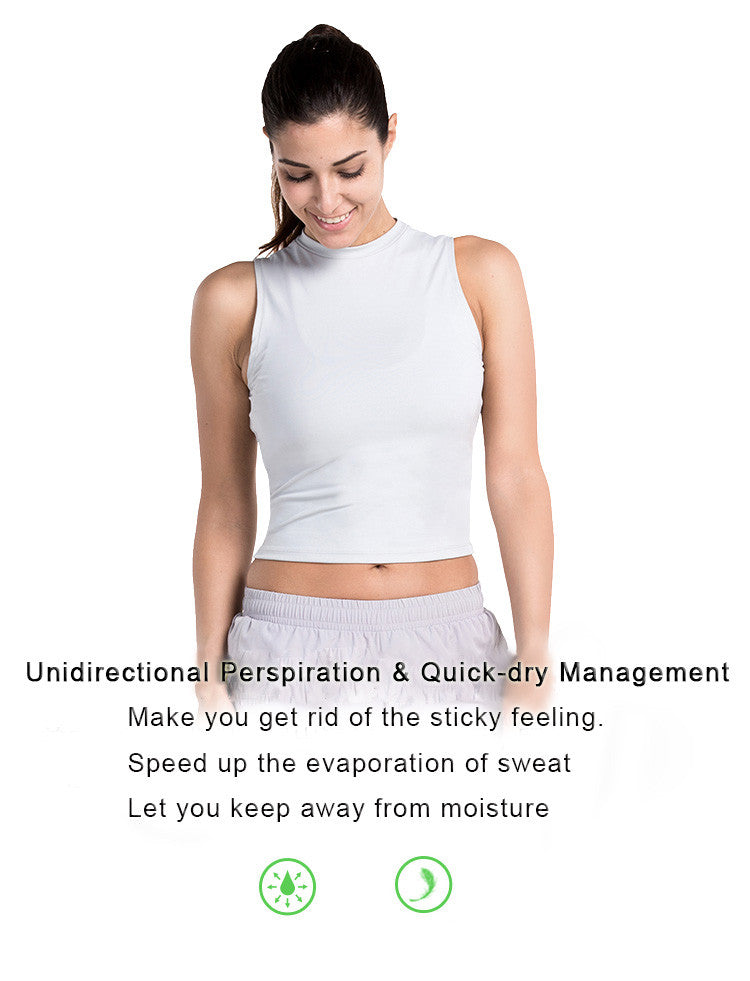 Unidirectional Perspiration & Quick-dry Management. Make you get rid of the sticky feeling. Speed up the evaporation of sweat. Let you keep away from moisture.