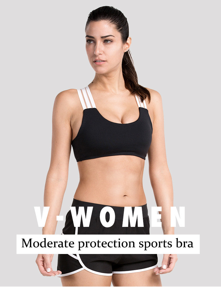 V-women,Moderate protection sports bra