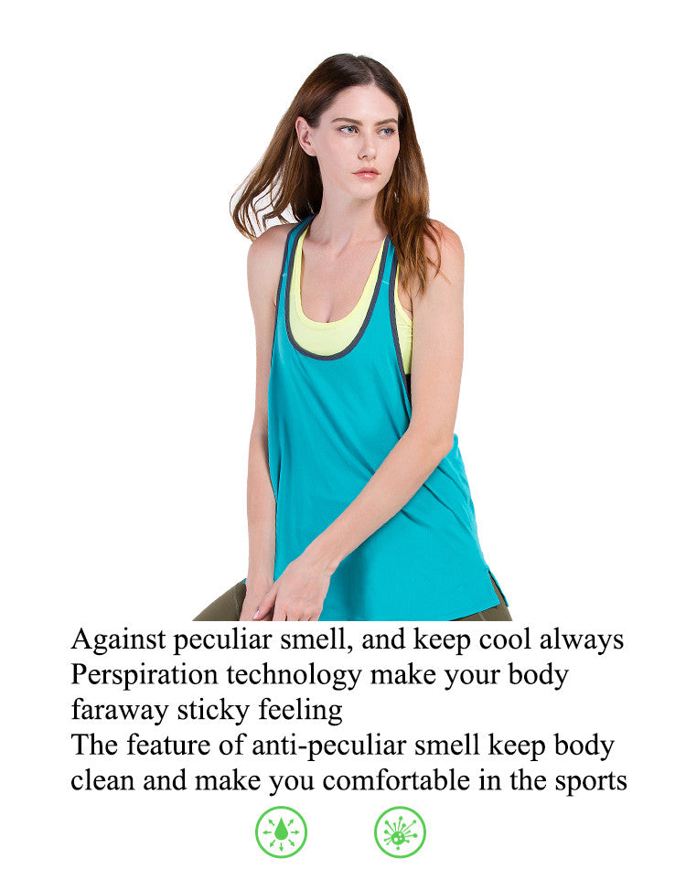 Against peculiar smell, and keep cool always; Perspiration technology make your body faraway sticky feeling; The feature of anti-peculiar smell keep body clean and make you comfortable in the sports.