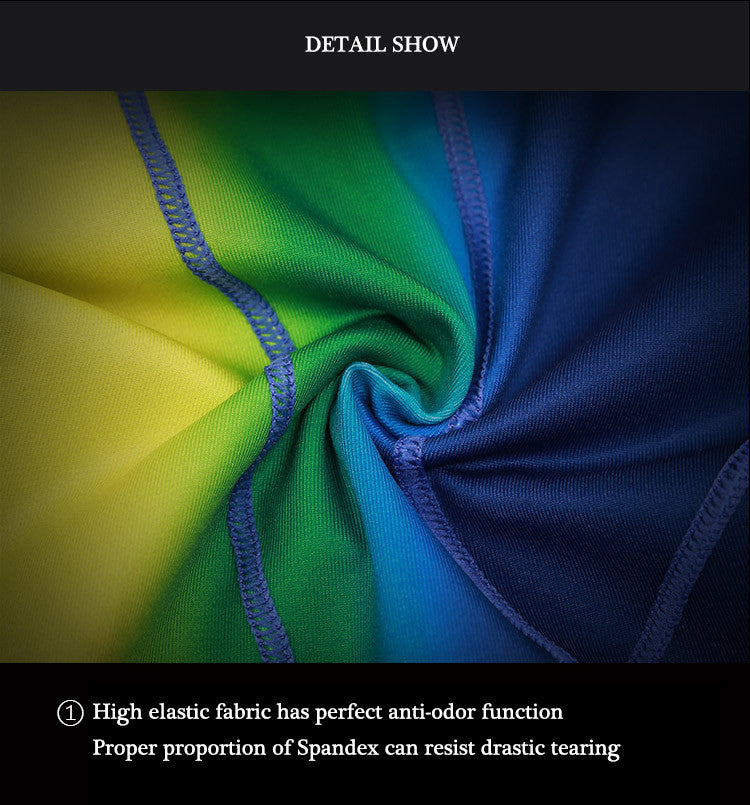 Display of Details :High elastic fabric has perfect anti-odor function.Proper proportion of Spandex can resist drastic tearing