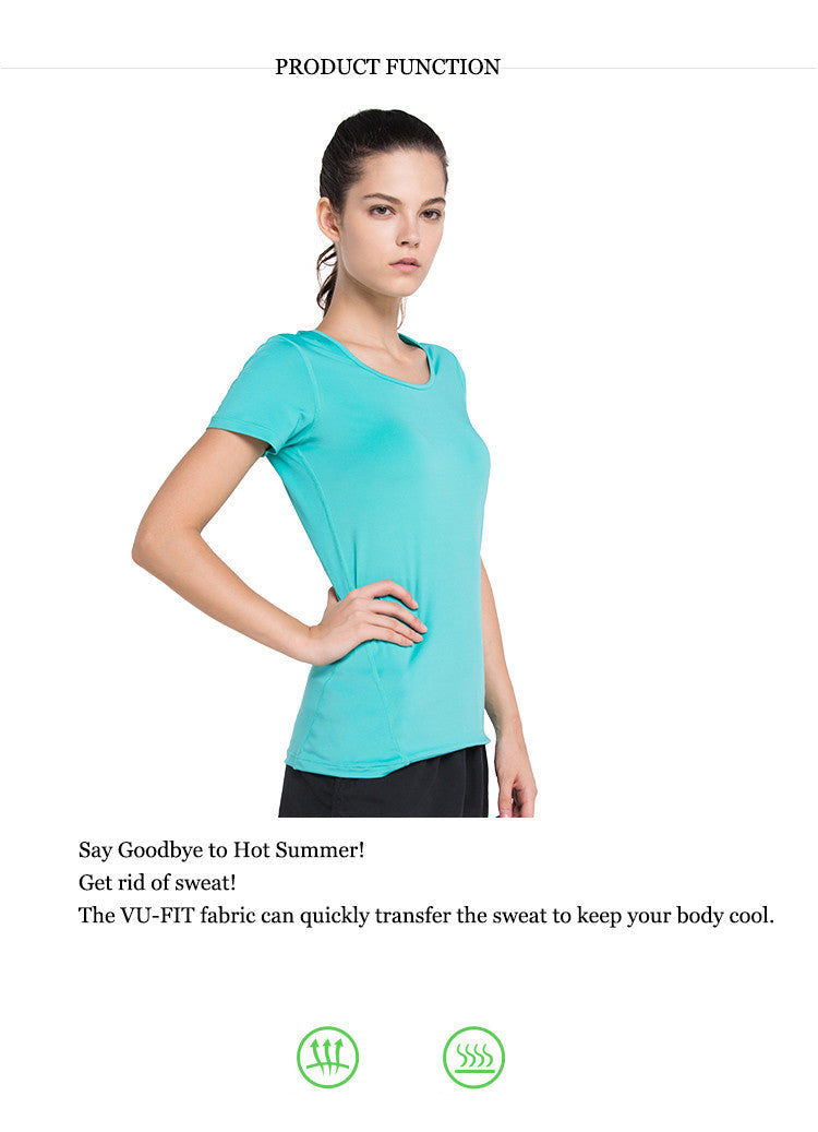 Say Goodbye to Hot Summer! Get rid of sweat; The VU-FIT fabric can quickly transfer the sweat to keep your body cool.