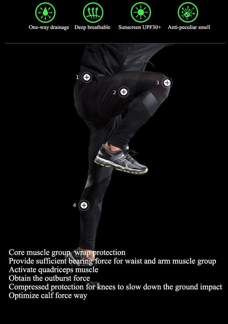 Core muscle group  wrap protection,Provide sufficient bearing force for waist and arm muscle group.Activate quadriceps muscle,Obtain the outburst force.Compressed protection for knees to slow down the ground impact.Optimize calf force way