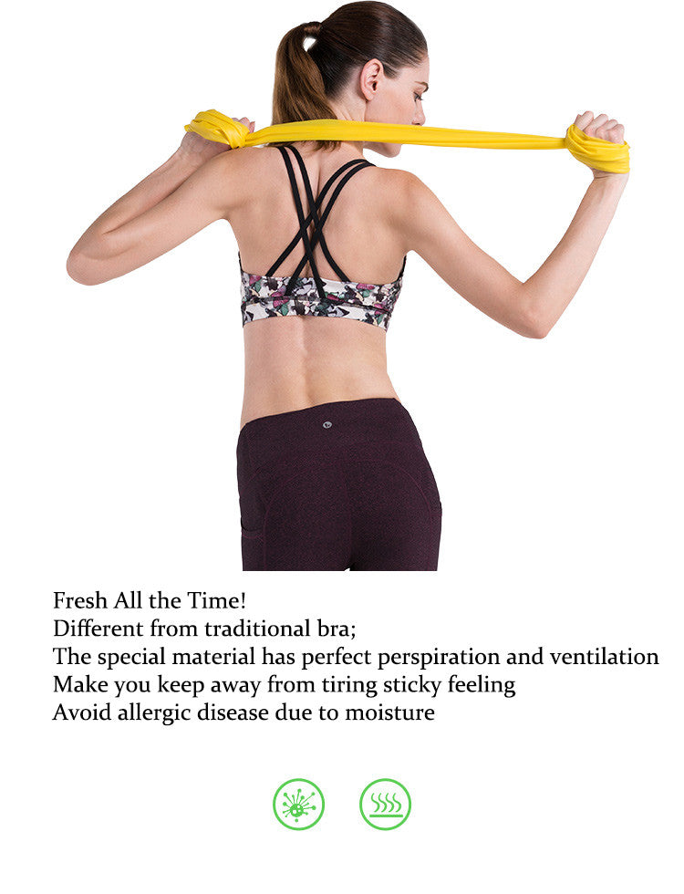 Fresh All the Time!Different from traditional bra;.The special material has perfect perspiration and ventilation.Make you keep away from tiring sticky feeling.Avoid allergic disease due to moisture