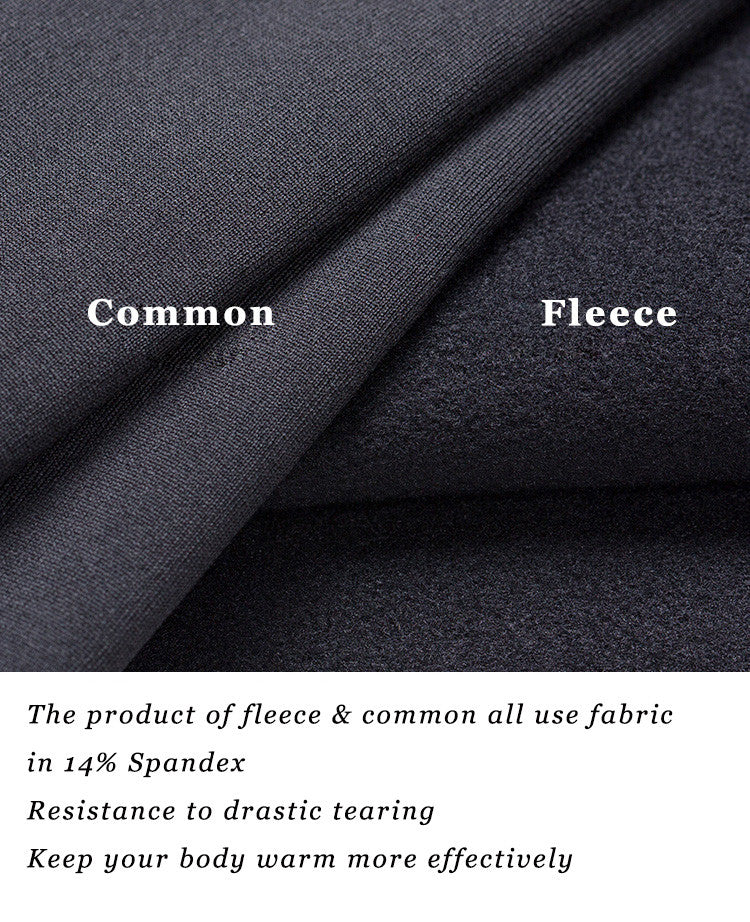 The product of fleece & common all use fabric in 14% Spandex; Resistance to drastic tearing; Keep your body warm more effectively.