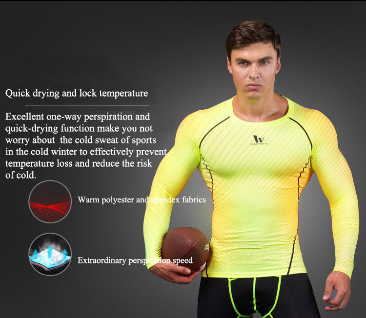 Quick drying and lock temperature,Excellent one-way perspiration and quick-drying function make you not worry about  the cold sweat of sports in the cold winter to effectively prevent temperature loss and reduce the risk of cold.Warm polyester and spandex fabrics,Extraordinary perspiration speed