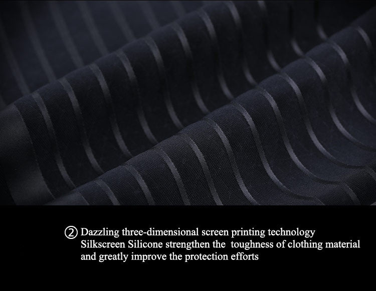 Dazzling three-dimensional screen printing technology .Silkscreen Silicone strengthen the  toughness of clothing material and greatly improve the protection efforts.