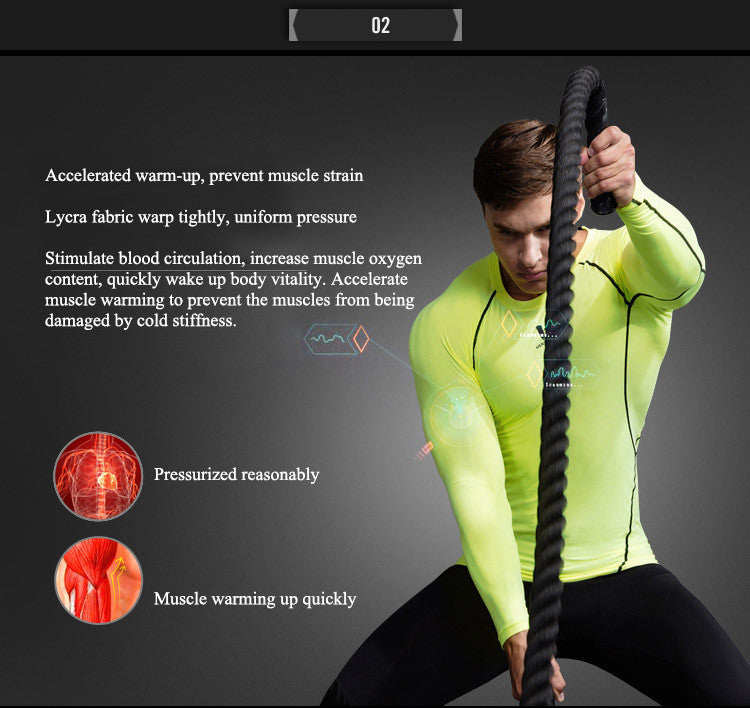 Accelerated warm-up, prevent muscle strain.Lycra fabric warp tightly, uniform pressure.Stimulate blood circulation, increase muscle oxygen content, quickly wake up body vitality. Accelerate muscle warming to prevent the muscles from being damaged by cold stiffness.Pressurized reasonably,Muscle warming up quickly