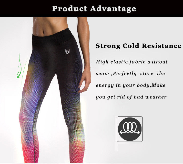Strong cold resistance; High elastic fabric without seam; Perfectly store the energey in your body; Make you get ride of bad weather.