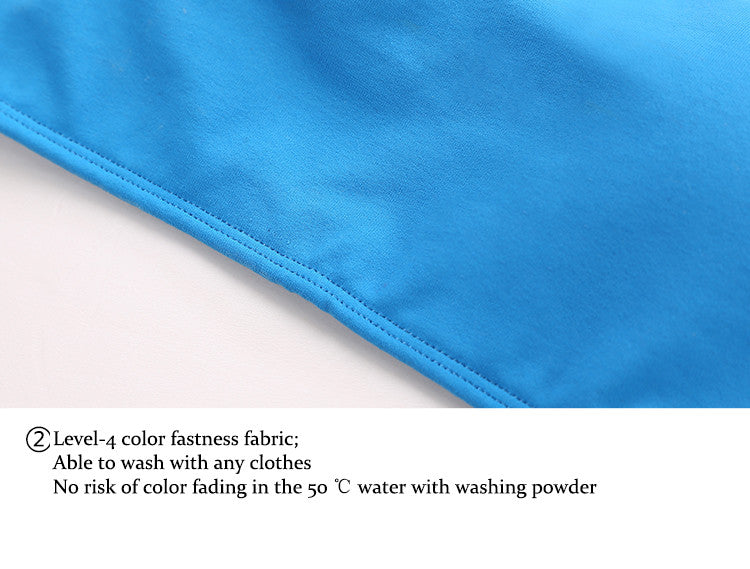 Level-4 color fastness fabric;Able to wash with any clothes,No risk of color fading in the 50 ℃ water with washing powder