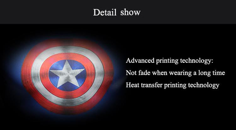 Advanced printing technology:Not fade when wearing a long time;Heat transfer printing technology