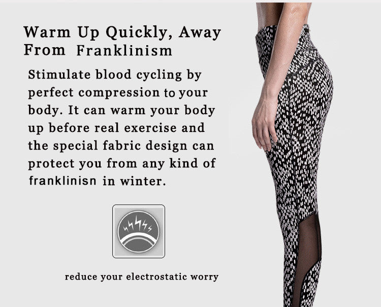 Warm -up quickly,away from electrostatic.Stimulate blood cycling by   strength your body.it can warm your body before real exercise and the special fabric design can protect from any kind of electrostatic in winter.