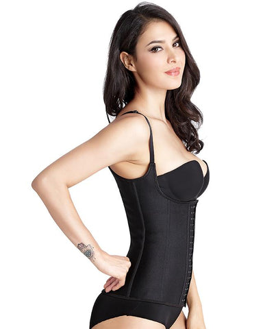 this is black waist trainer vest for women to flat their belly.