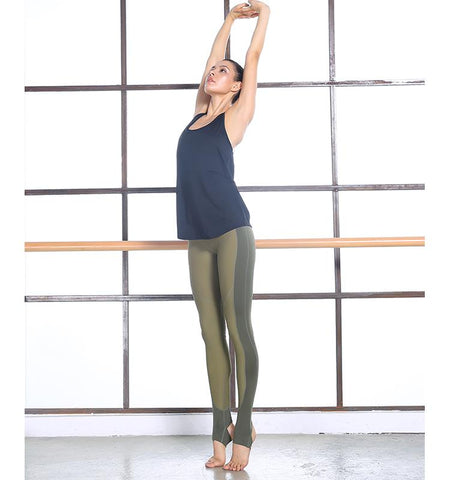 High Waist Over Heels Leggings.Dark_green