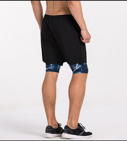 Dual-Layer With Long Compression Lining Training Shorts