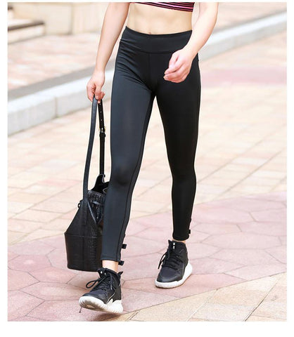 Bowknot on Footer Leggings-Black