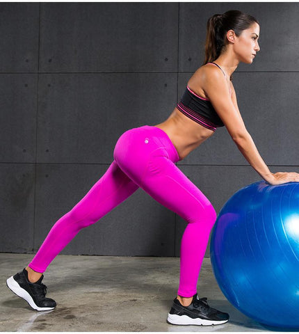 Butt Lifter Pure Color Compression Pants