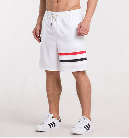 One Side Strapes Shorts-White