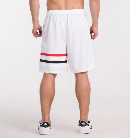 One Side Strapes Shorts_white