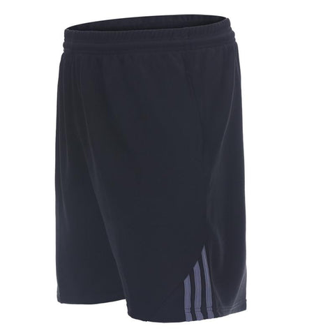 Three Stripes Side Shorts with Zipper Pockets.black_gray