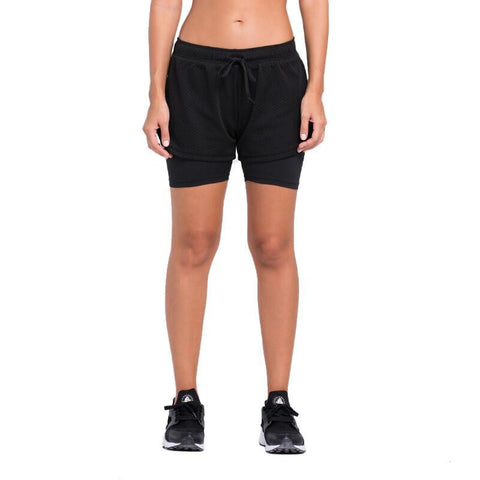 Dual-Layer All Hollowed-out Shorts