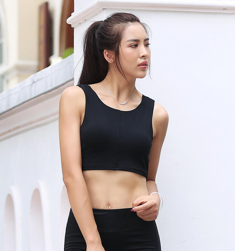 Cross-Belt Vest Bra_black
