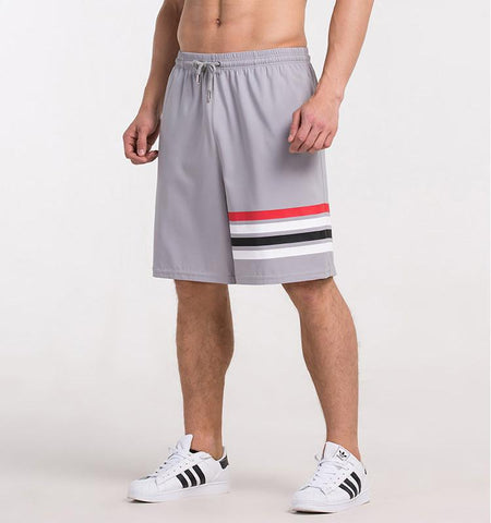 One Side Strapes Shorts-Gray