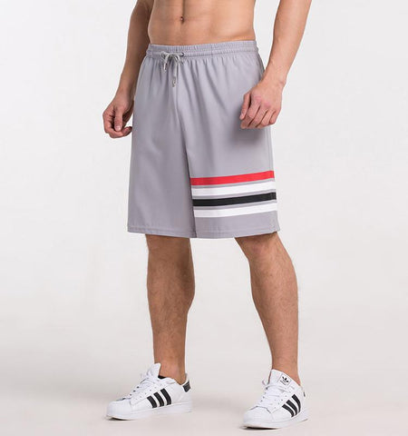 One Side Strapes Shorts_gray