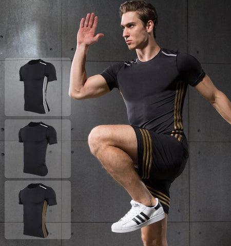 Three Stripes Compression Short Sleeves.