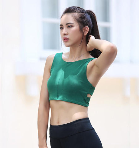 Cross-Belt Vest Bra_green