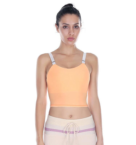 Widen Bottom Vest Bra_orange