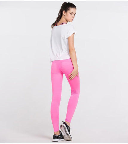 Pure Color Low Waist Pants