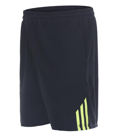 Three Stripes Side Shorts with Zipper Pockets.black_green