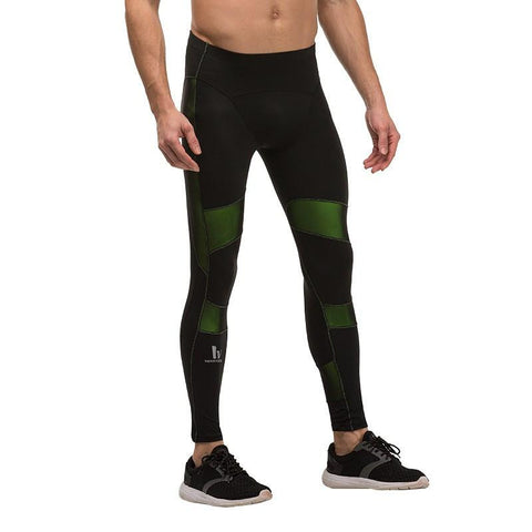 High Impact Green Splicing Color Pants
