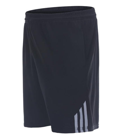 Three Stripes Side Shorts with Zipper Pockets.black_white