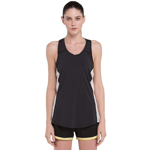 Side Mesh Workout Tank Tops