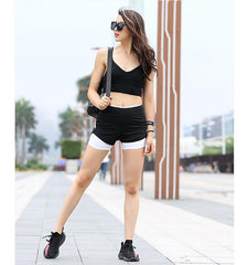 Dual-Layer High Waist Shorts