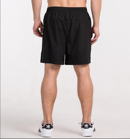 Double Side Stripes Shorts.black