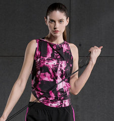Cute Workout Tanks Abstract Pattern for Women