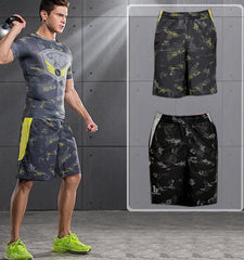 This animal printed men's workout shorts for stylish design, comfort and ventilation is your good partner no matter indoors or outdoors.