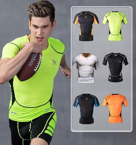 This men's compression short sleeve tops will provide you with protection and ensure extension freedom, no matter you are indoors or outdoors.