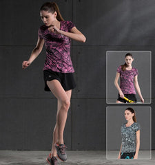 This short sleeve compression tops for women provide you with rapid moisture absorption, dispersal for quick dry effect and antibacterial treatment. Sales channels Manage  Visible on 1 of 1 Online Store Organization Product type Vendor Collections      Cycling     Fitness     Running     Sport     Women's     Women's Short Sleeves     Yoga     Women's Tops  Tags View all tags      Women     Summer     S