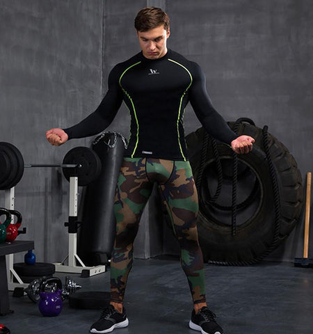 Men's Compression Pants - Camouflage Workout Leggings