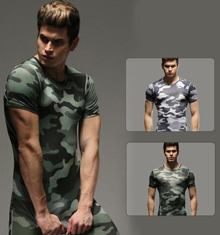 This men's camouflage compression short sleeve shirts is your perfect training partner that increase blood flow and oxygen supply to your core muscles.