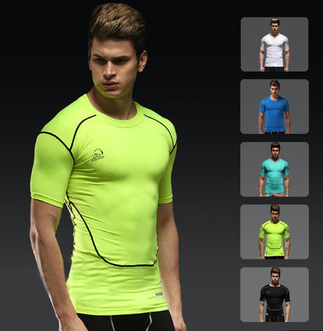 This men's gym short sleeve compression shirts is your secret weapon to help you stay calm, strong and balanced with optimized recovery time.