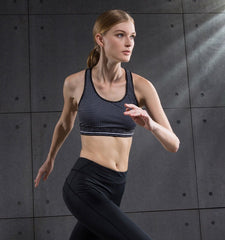 High Impact Dot Pattern Sport Bra for Any Exercise
