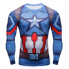 Image of Captain America Compression Shirt Long Sleeves