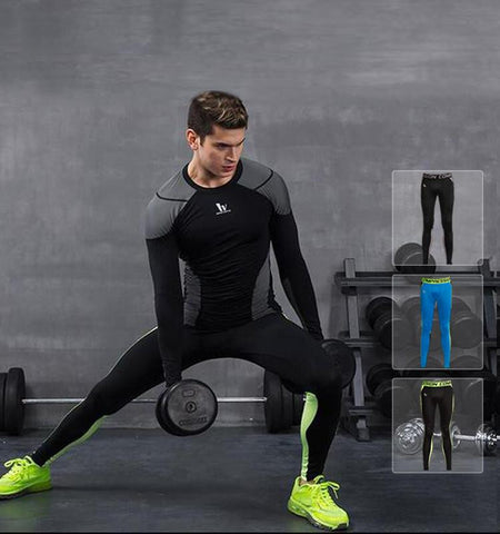 This men's compression pants of gym clothing, with ultra-light weight and dries really fast, enhance your posture and performance during your workout time.