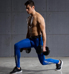 Leg Lightning Design Compression Leggings for Men