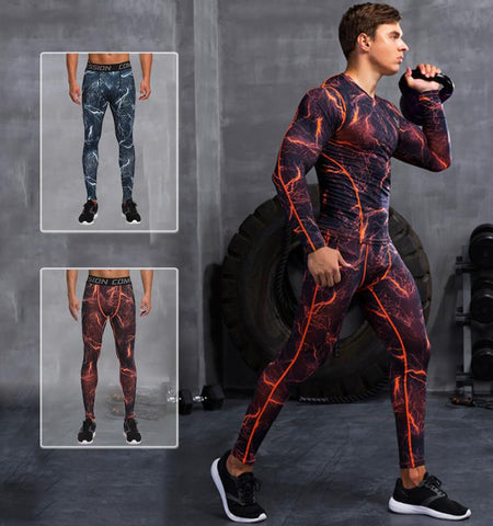 This men's compression pants with lightning pattern, perfect ventilation and heat dissipation that can really prove your performance in outdoor&indoor workout.
